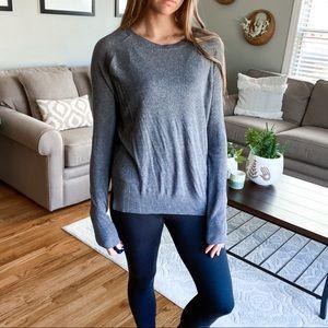 MANGO lightweight gray pullover sweater